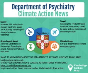 psychiatry department climate action summary